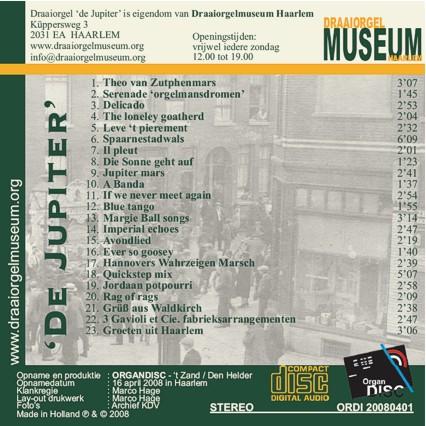 "CD - 68 toets Gavioli-draaiorgel ""De Jupiter"" volume 1"